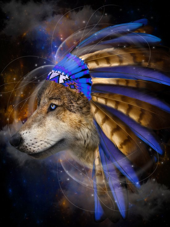 Fight For What You Love (Chief of Dreams: Wolf) Tribe Series Art Print