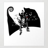 Oh! you my rose Art Print
