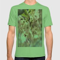 Spring Blossoms Mens Fitted Tee Grass SMALL