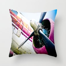 C160 Military Transport Airplane Throw Pillow