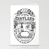 Maryland Crabs & Beer Stationery Cards