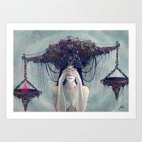 Zodiac Sign: Libra Art Print