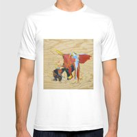Elephants 2  Mens Fitted Tee White SMALL