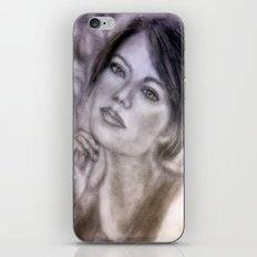 Pencil Portrait Drawing  - American Actress - Emma Stone iPhone & iPod Skin