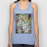 Postage Stamps Unisex Tank Top