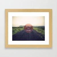 Here Is Now II Framed Art Print