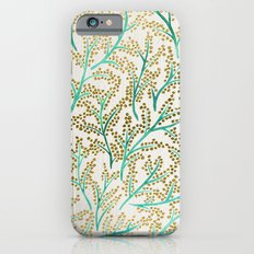 Green & Gold Branches iPhone 6 Slim Case