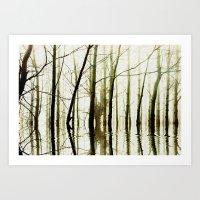 TREE TONES Art Print