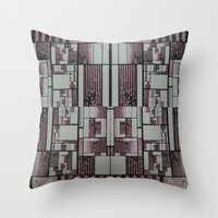 FX#509 - The Faded Geome… Throw Pillow