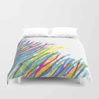 stripes in the wind Duvet Cover