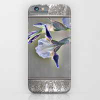 iPhone & iPod Case featuring Miniature Tall Bearded Iris named Consummation by JMcCombie