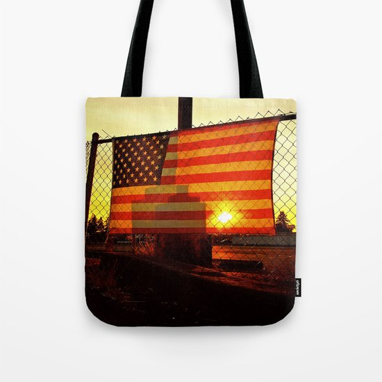America's sunset Tote Bag