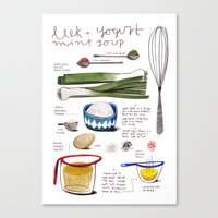 Illustrated Recipes: Lee… Canvas Print