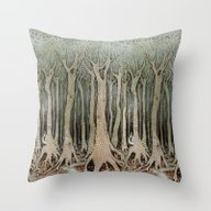 Tall Woods, Colour Throw Pillow