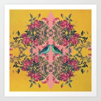 Love Birds II (yellow Ve… Art Print