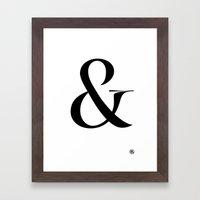 Turquoise's Ampersand Framed Art Print