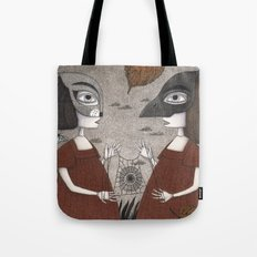 Ana and Eva (An All Hallows' Eve Tale) Tote Bag