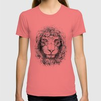 King of Nature Womens Fitted Tee Pomegranate SMALL