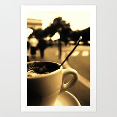 Mon Paris - Un café à Paris Art Print