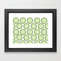 Cool as a cucumber Framed Art Print