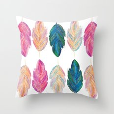 feather fully Throw Pillow
