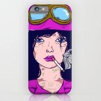 iPhone & iPod Case featuring Dangerous Girls - Biker by Matheus Costa