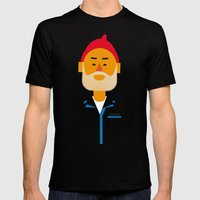 Steve Zissou Mens Fitted Tee Black SMALL