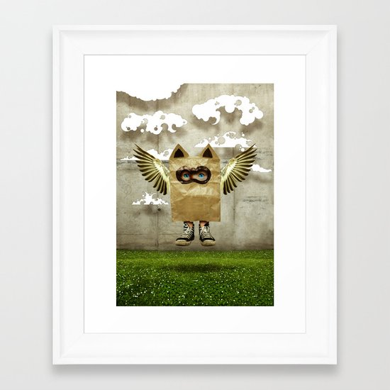 Fly try Framed Art Print
