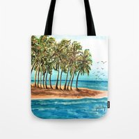 Private Island Painting Tote Bag