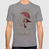 Watermelon Mens Fitted Tee Athletic Grey SMALL
