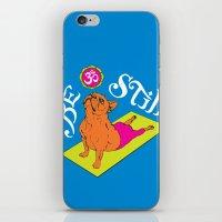 Frenchie Yoga iPhone & iPod Skin