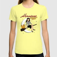 Hermione the Teenage Witch Womens Fitted Tee Lemon SMALL