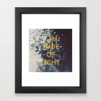 Made Of Light Framed Art Print