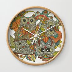 4 Owls Wall Clock