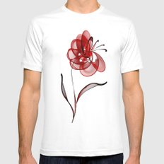 Vector Flower Mens Fitted Tee White SMALL