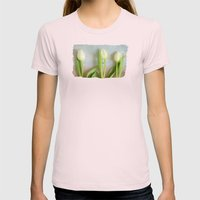 Tulips - JUSTART © Womens Fitted Tee Light Pink SMALL