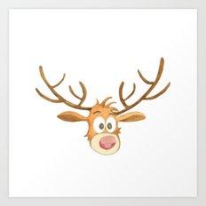 Reindeer Noel Painting Art Print