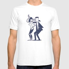 Just Shut The Fuck Up An… Mens Fitted Tee White SMALL