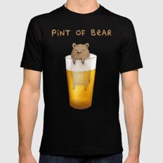 Pint of Bear Mens Fitted Tee Black SMALL