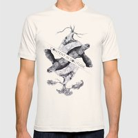 Content In Solitude Mens Fitted Tee Natural SMALL