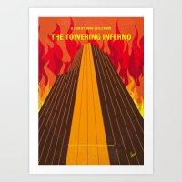 No665 My The Towering Inferno minimal movie poster Art Print