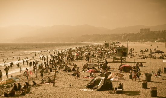 Santa Monica Summer Art Print