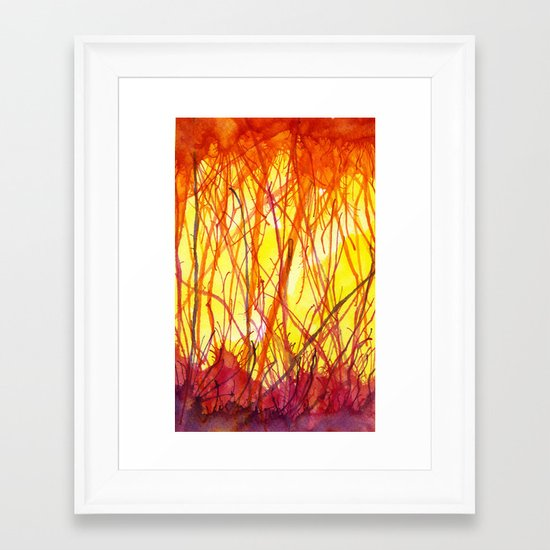 Hot Heat Ha! Framed Art Print