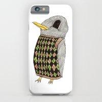 Baby Raven In Argyle iPhone 6 Slim Case