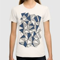 Abstraction Lines With N… Womens Fitted Tee Natural SMALL