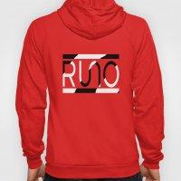 Rue Nothing RUNO Logo Zebra Hoody