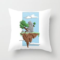 Pixel Landscape : Flying… Throw Pillow