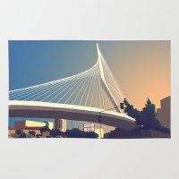 Calatrava Bridge Jerusalem Rug