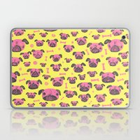 Pug Life  - Yellow And P… Laptop & iPad Skin