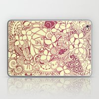 Yellow Square, Pink Flor… Laptop & iPad Skin